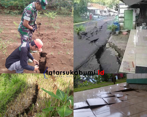 Kondisi terkini pergerakan tanah di Nyalindung Sukabumi