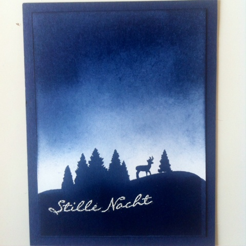 Karte, Weihnachtskarte, Stampin Up, Stille Nacht, Loewchenzimmer, Löwchenzimmer,