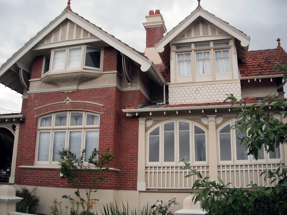 Westerhall 2 Lime Avenue Newstead, Launceston, with much ornamental timberwork and Art Nouveau leadlight glass windows