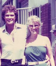 Chrissie with David Hassellhoff