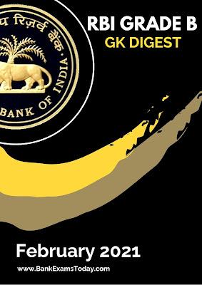 RBI Grade B GK Digest: February 2021