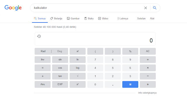 Fitur Kalkulator di Google Search