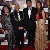 OIC - ENTSIMAGES.COM - Mayor and Mayoress of Kingston, director Rajan Kumar Patel and Katan Patel  at the  : Feast of Varanasi  UK film premiere during the London Asian Film Festival 5th March 2016 Photo Mobis Photos/OIC 0203 174 1069