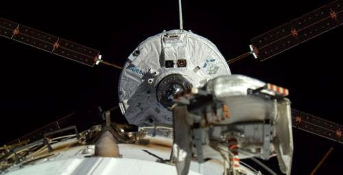Esa Last Atv Spacecraft Docks With The Space Station