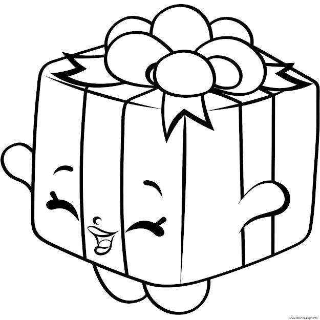 Print Gift Box Shopkins Season  Coloring Pages