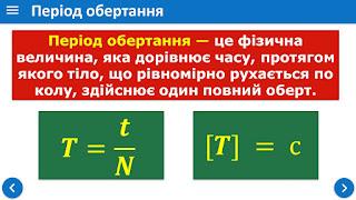 Період обертання Обертова частота