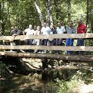 Se construye en hauzolan un puente para salvar la regata Zaldazain en el camino a Usillaga.
