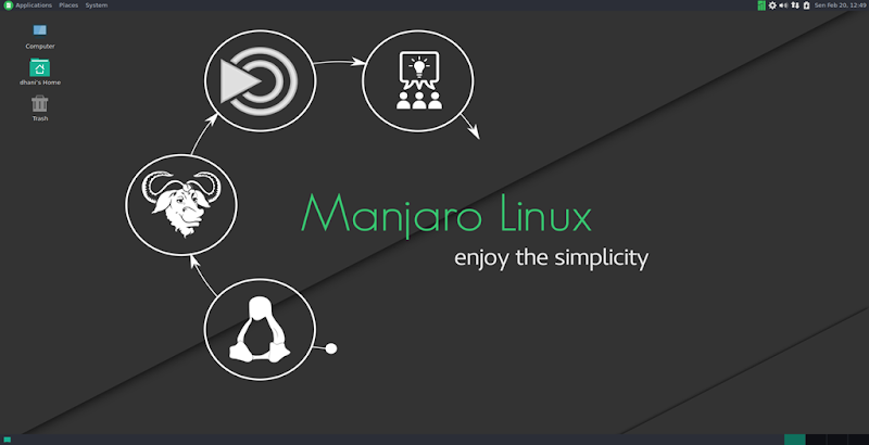 manjaro 16.10 mate screenshot 2