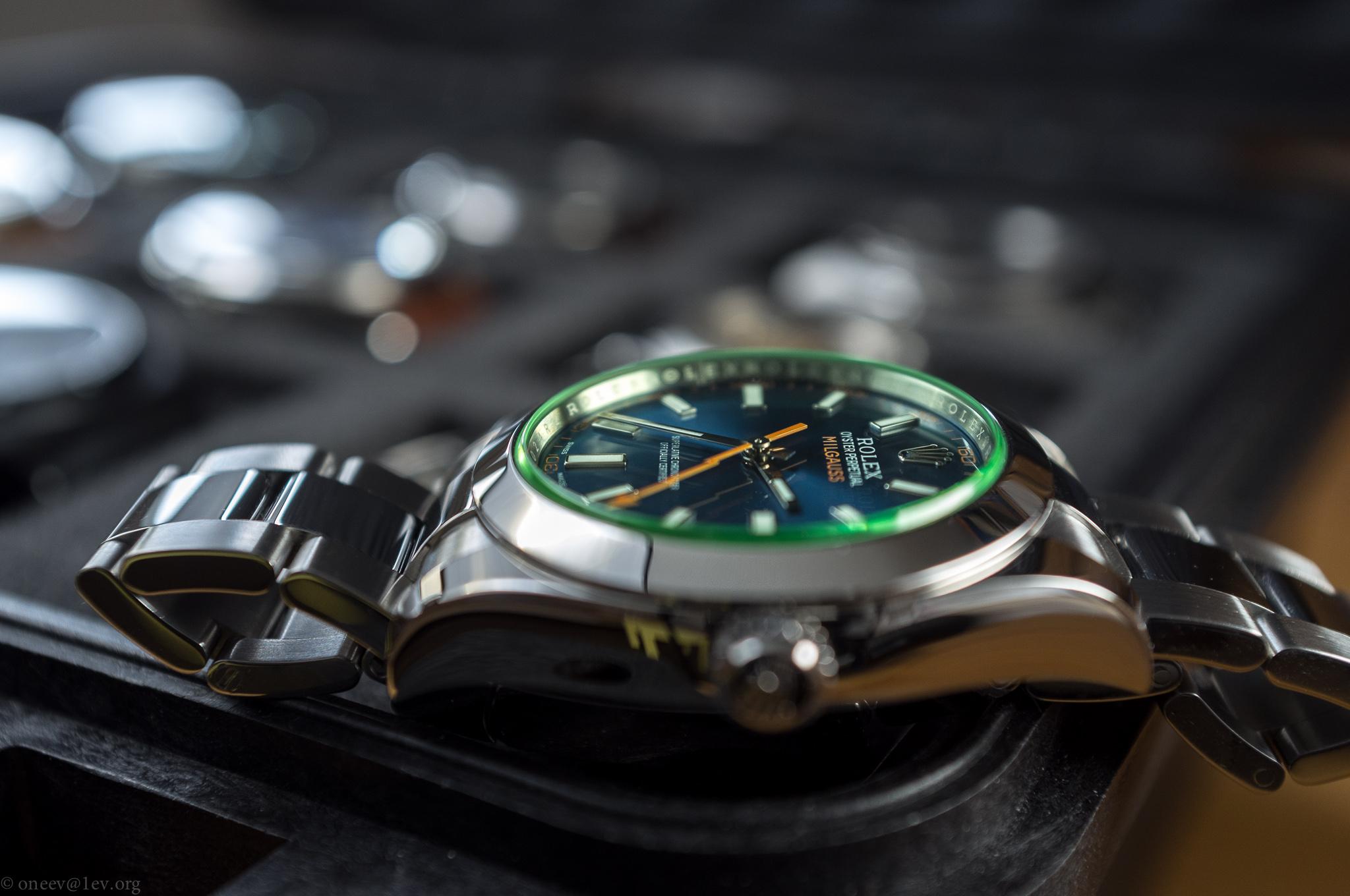 Revue illustrée de la Rolex Milgauss Z-Blue 20150131-DSCF5870
