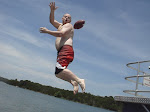 We tried to catch footballs in midair