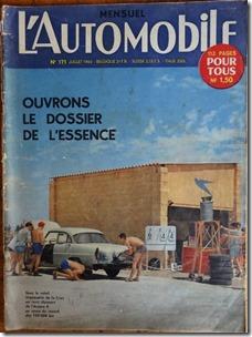 l'automobile 171 juillet 1960