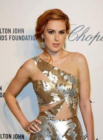 Rumer Willis in silver dress