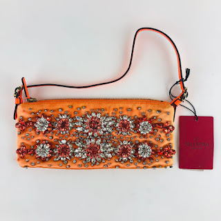 Valentino Orange Jeweled Bag