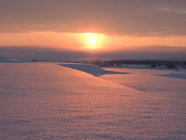 季節のうつろい 朝陽