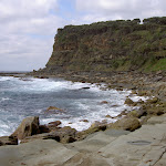 A view along the coast from Figure of 8 Pools Track (34325)