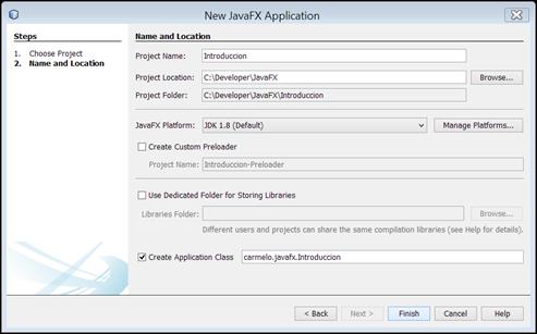 Crear aplicación javafx con netbeans