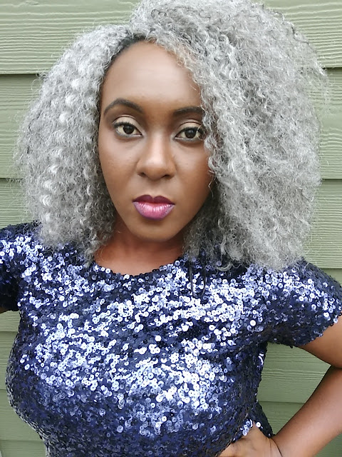 berry dakara, crochet braids, protective styles, grey crochet braids, natural hair, nigerian, black hair, grey hair