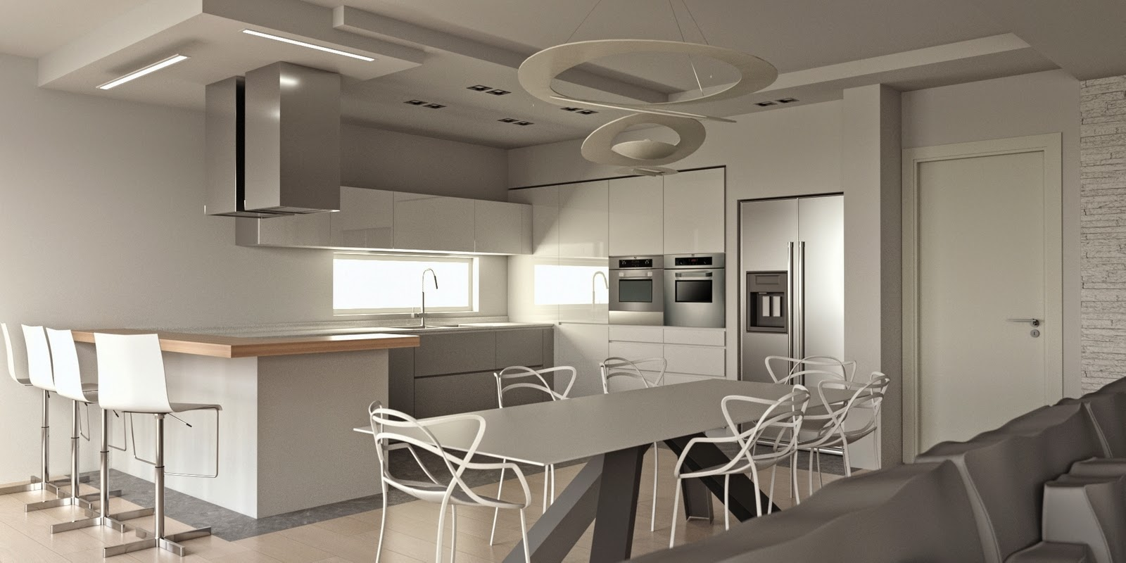 Progetti cucine moderne arredamento cucine e soggiorno - Progetti cucine moderne ...