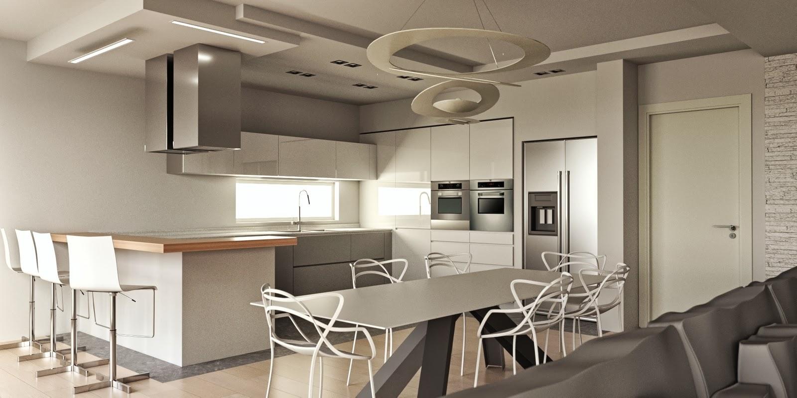 Progettazione arredamento con rendering 3d carminati e - Disposizione mobili cucina ...