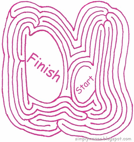 "Maze Number 92: The Letter ""D"""