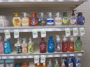Photo: The tags under the products helped me find that Softsoap BOGO deal on the shelves.