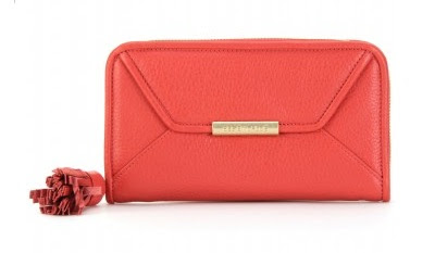see by chloe red leather wallet