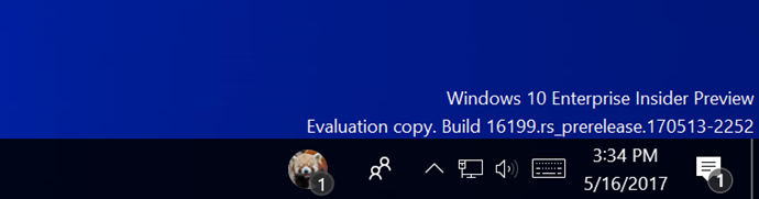 My People badge on Windows 10 insiders build 16199 (www.kunal-chowdhury.com)