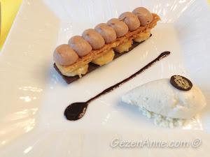 sütlü çikolata kremalı karamel çıtırlar ve muzlu dondurma, La Rotonde Negresco