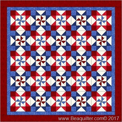 red white blue quilt it today
