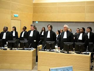 La Chambre de première instance II de la CPI reconnaît Germain Katanga, chef milicien congolais, coupable de crimes de geurre et crime contre l'humanité, le 7 mars 2014 à La Haye. Ph CPI.