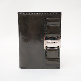 Salvatore Ferragamo Patent Leather Card Wallet