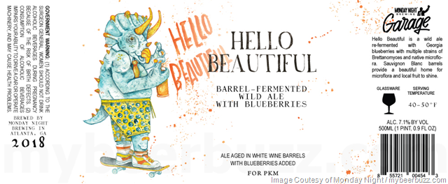 Hello Beautiful Wild Ale Coming To Monday Night Brewing Garage