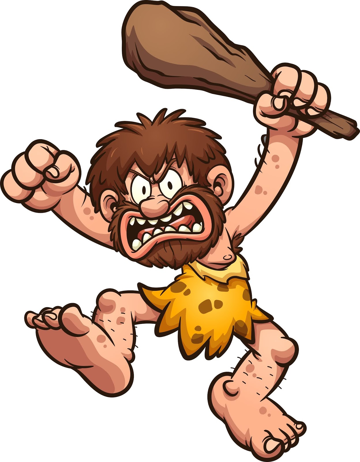 Angry Caveman Illustration Free Download Vector CDR, AI, EPS and PNG Formats