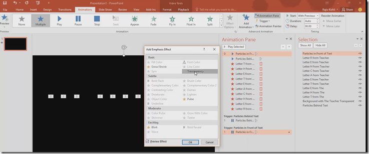 The Teacher: Particles Text Effect in PowerPoint 2016