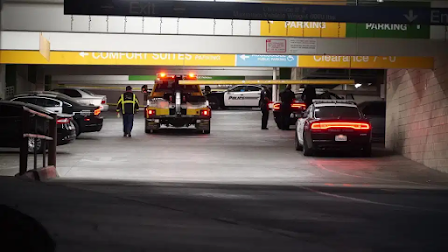 Visalia California security security officer wrestles gun away from man who shot at him