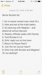 casey the college celiac, senior year bucket list
