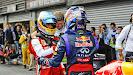 Alonso congratulates Vettel on his victory