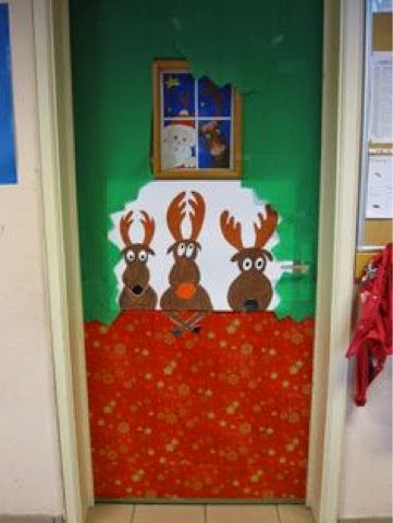 Mis cosas de maestra decoraci n de puertas navide as for Decoration porte noel maternelle