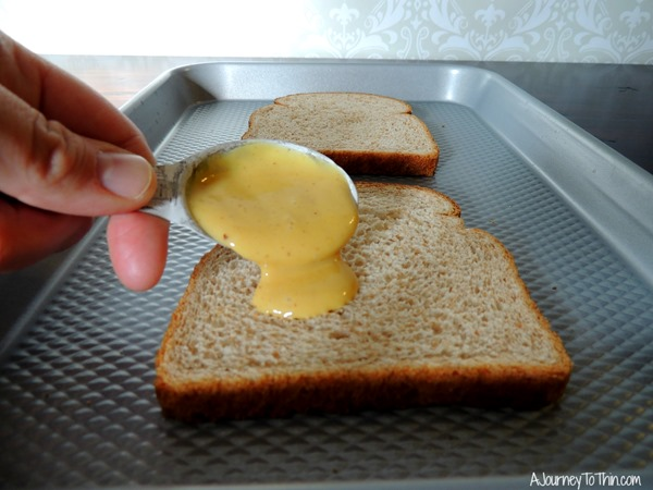 Grown up Grilled Cheese honey mustard