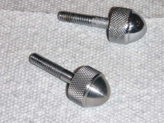 Air cleaner Acorn knobs CHROME, new  29.00 .. One is original and one is our new one un-chromed.. ALL are chromed now.