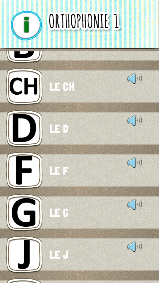 Orthophonie 1 : exercices d'articulation- screenshot
