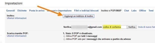 indirizzo-gmail-inoltro