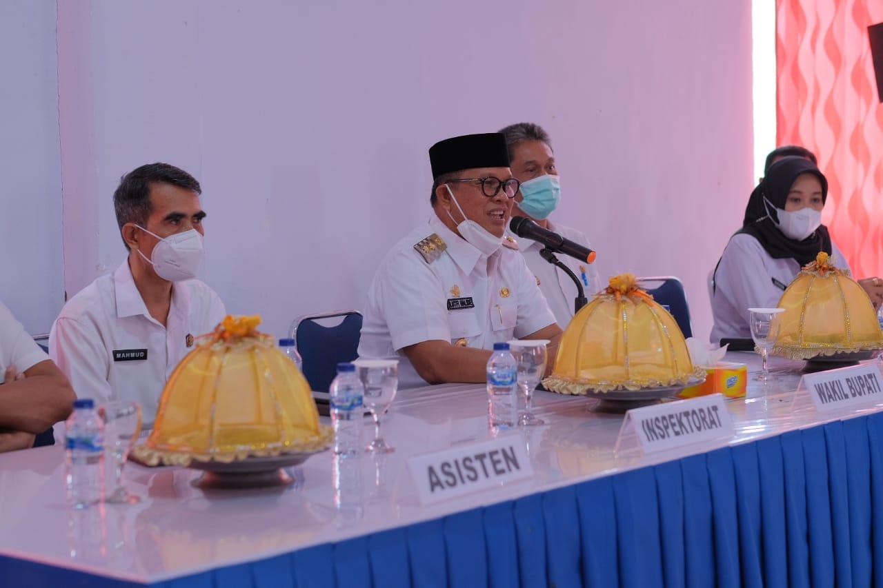 Wabup Soppeng Gelar Tatap Muka di Kecamatan Liliriaja, Imbau Kades dan Lurah Kuasai Wilayah