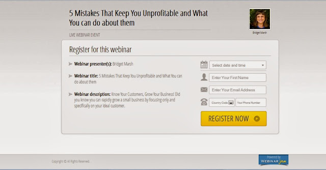 Webinarjam Registration Page Sample