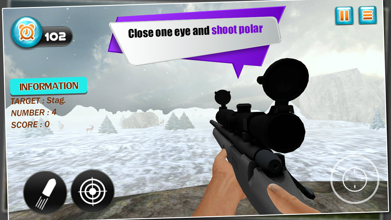 Wild Animals Hunter: Snow 3D- screenshot