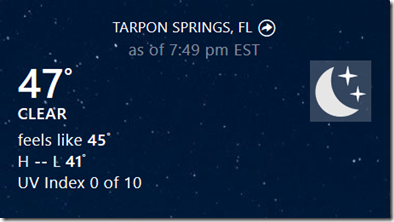 Tarpon Springs Temps