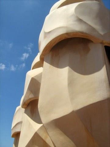 chimney, La Pedrera, Casa Mila, Barcelona, Gaudi