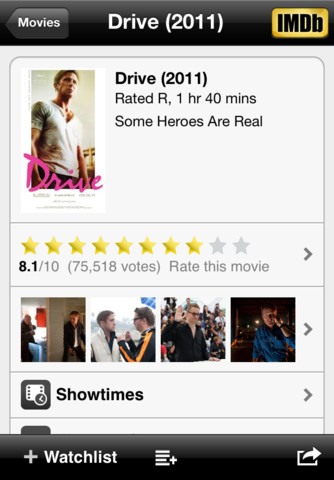 IMDb movie for iphone