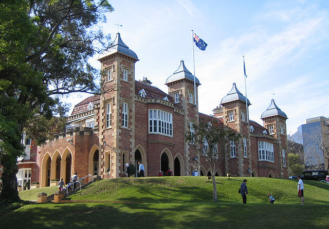 Government House, Perth CBD, WA in Elizabethan style