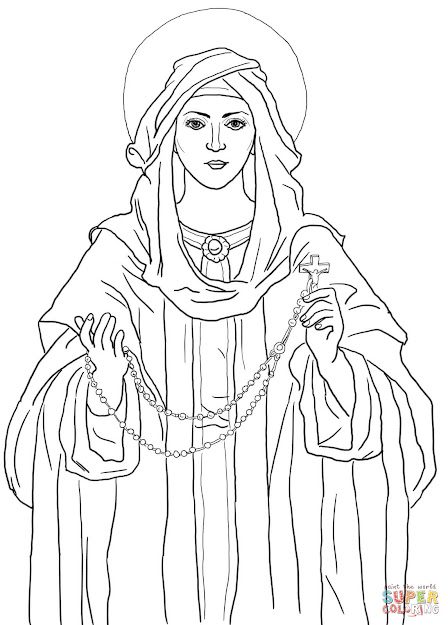 Click The Our Lady Of The Rosary Coloring Pages To View Printable Version  Or Color It Online Patible With Ipad And Android Tablets